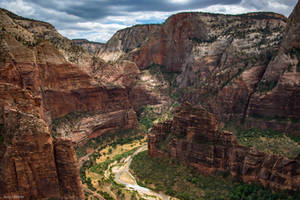 View from Angel's Landing by TerribleTer