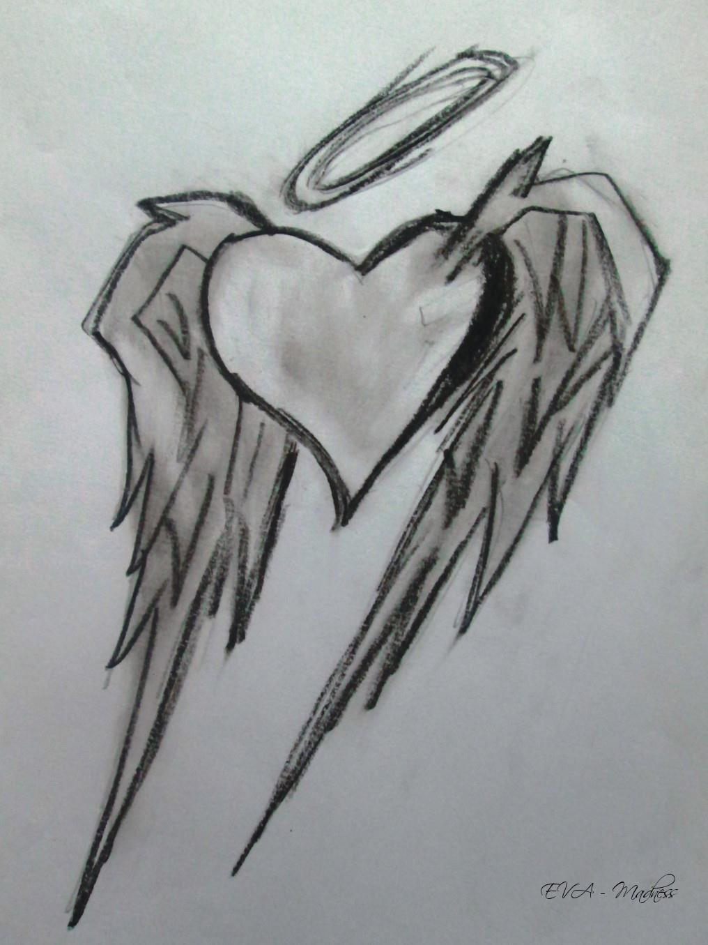 Emo Heart With Angel wings . by EvaMcqueen on DeviantArt