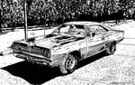 Plymouth Roadrunner (Ink) by KeithMeyerArt