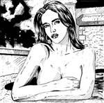 Female Portrait 20 (Ink) by KeithMeyerArt