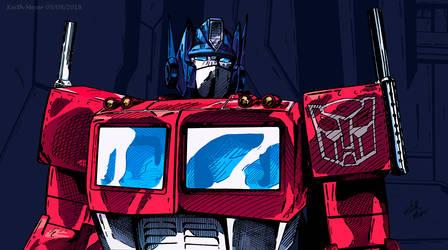Optimus Prime (Color) by KeithMeyerArt