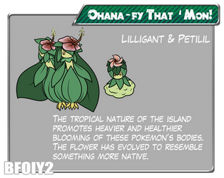 Ohanafy That Mon! -- Petilil and Lilligant by MuninniguH