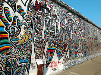 Berlin Wall Street Art by vintagevic