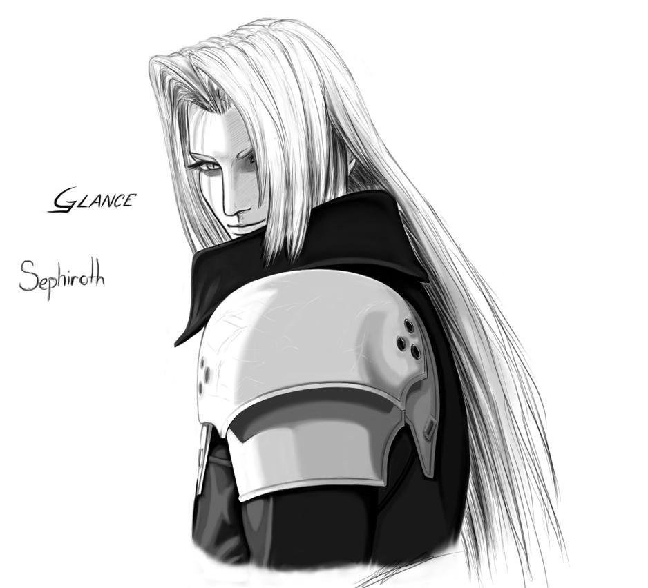 Sephiroth, Glance by BahamutDeusModus