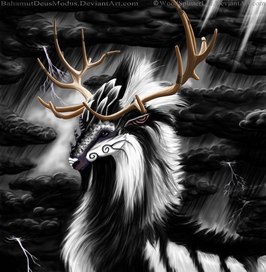 Fantasy Thunder Stag fan art by BahamutDeusModus