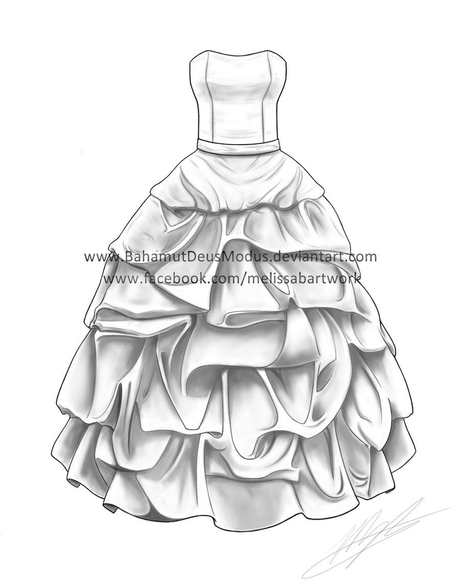 Keelie's wedding dress by BahamutDeusModus