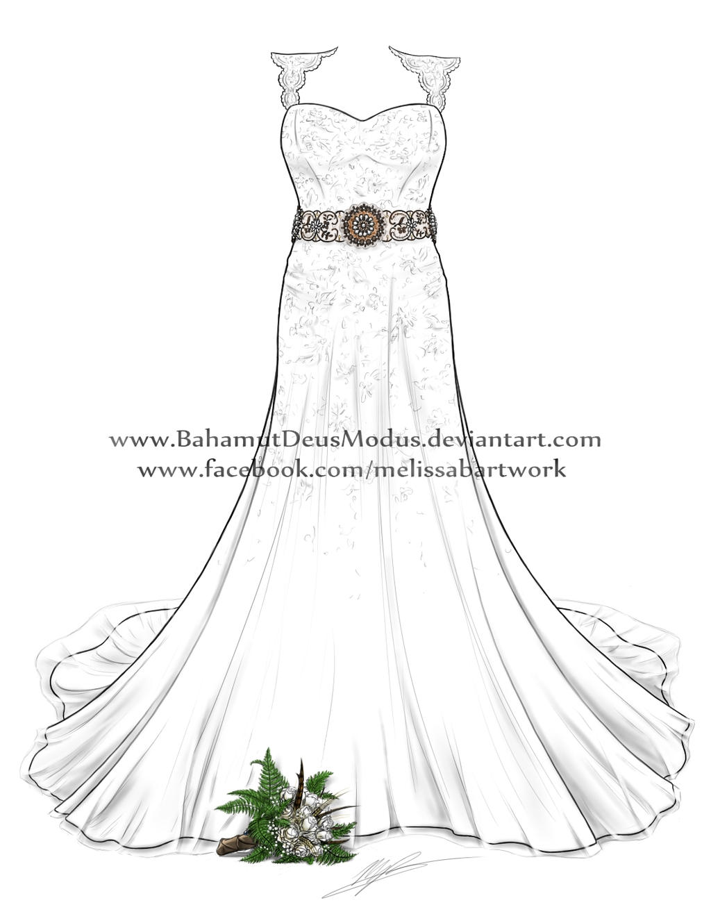 Wedding dress, Tiffany's by BahamutDeusModus