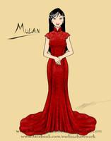 Mulan wedding gown sketch by BahamutDeusModus