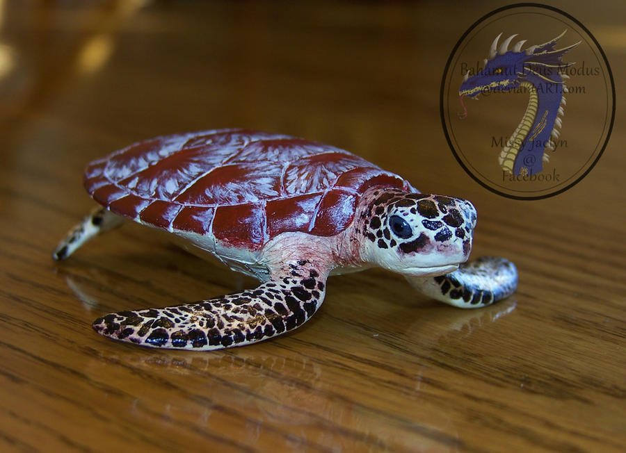 Realistic Sea Turtle sculpture by BahamutDeusModus