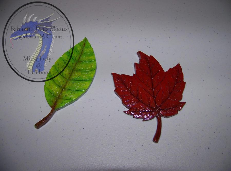 Leaf tabletop decorations by BahamutDeusModus