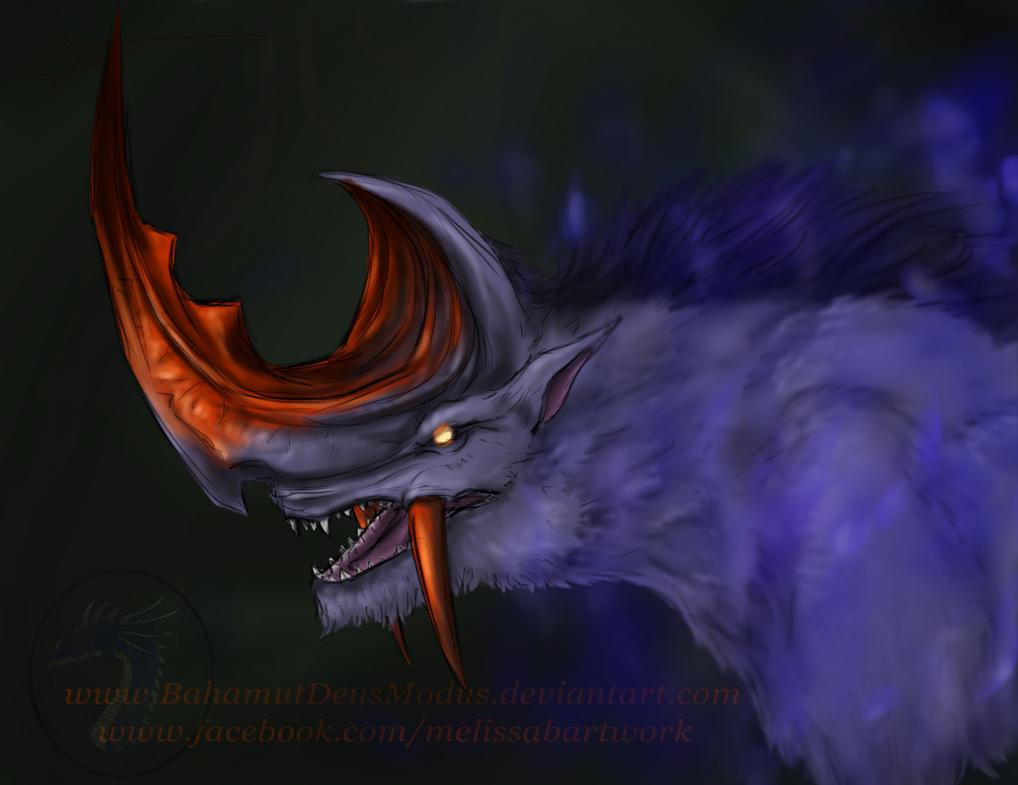 Final Fantasy XII Hellhound speedpaint by BahamutDeusModus