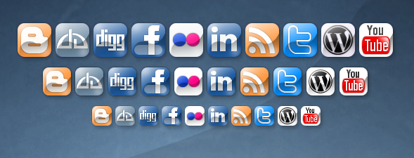Social Networking Icons by klesterjr