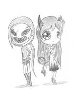 Jayla and Rimi~ (commish) by BijouBlue