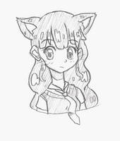 Cat chara! for Meakou {25 Days of Sketches} by BijouBlue