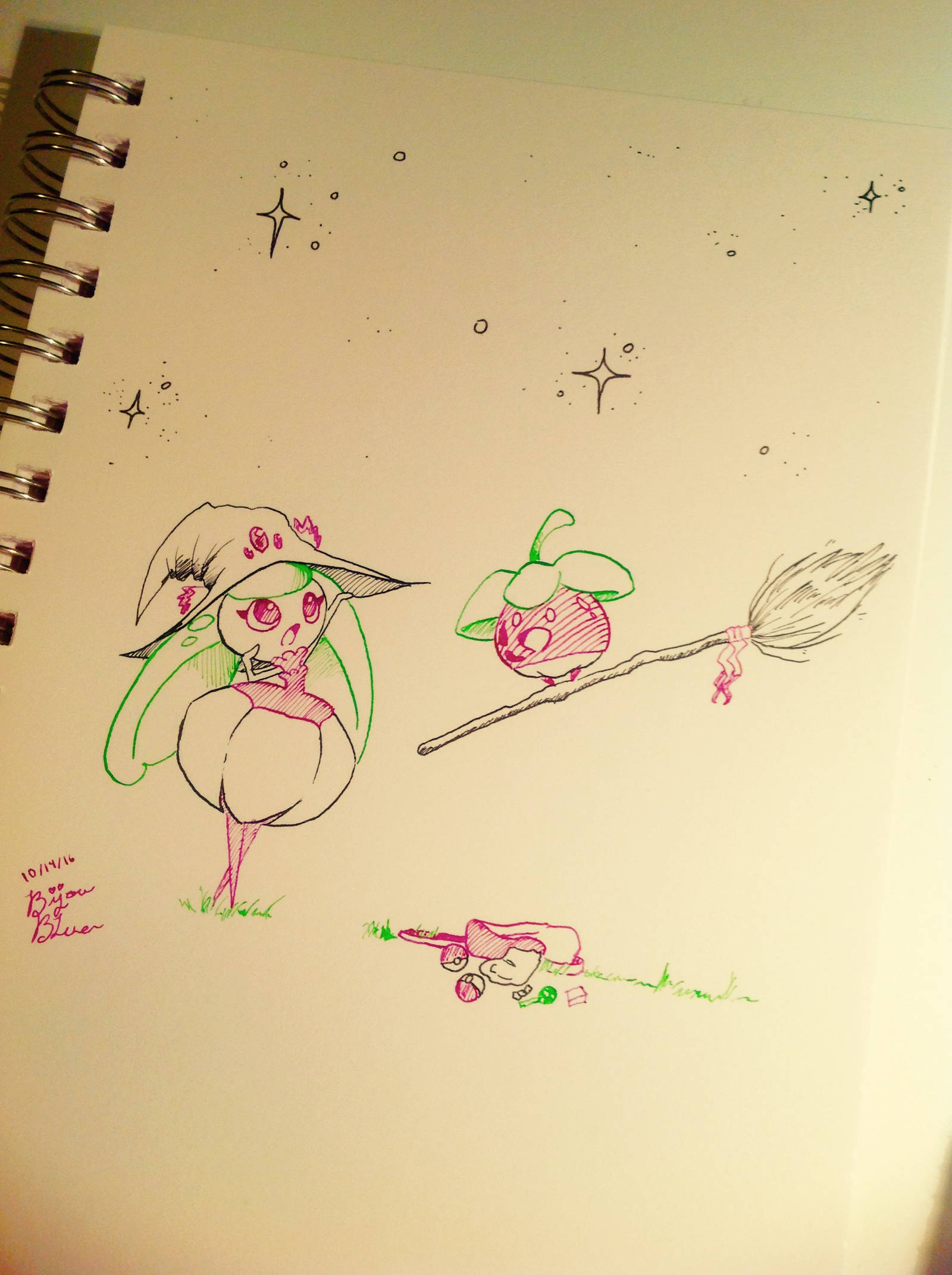 Inktober Day 14! {Best Witch in Town} by BijouBlue