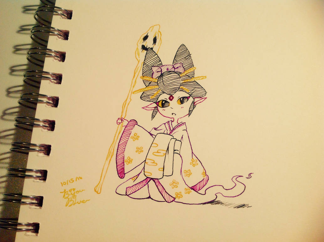 Inktober Day 15! {Yo-Kai watchi-chi!} by BijouBlue