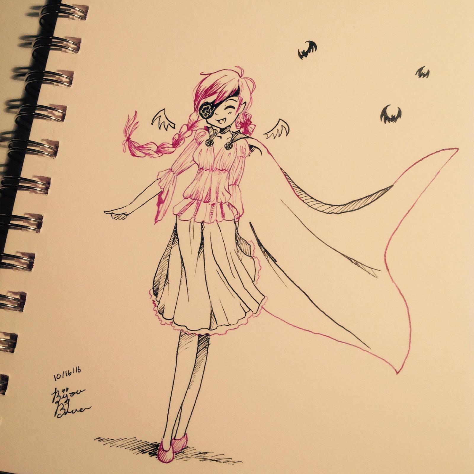 Inktober Day 16! {Vampirette} by BijouBlue