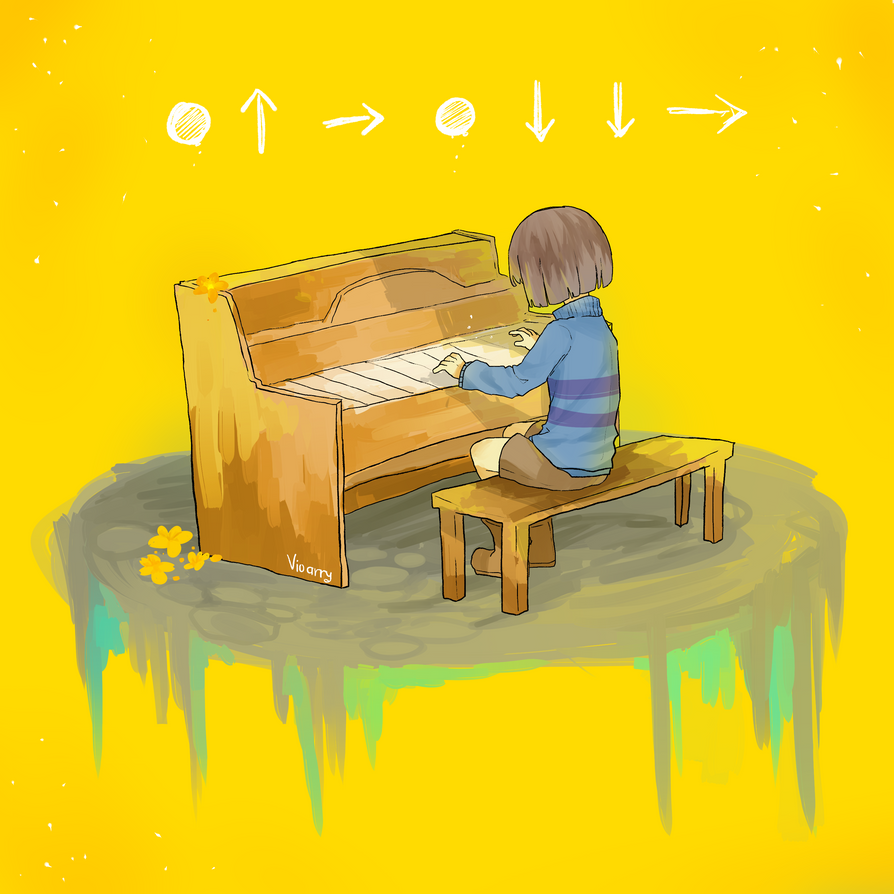 Undertale  secret Piano room by Vioarry on DeviantArt