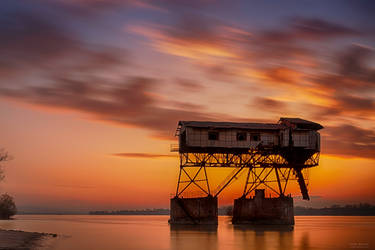 Old coal loader on the River II. by midnightlife