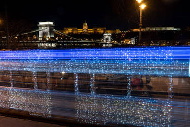 Christmas LightTram, Budapest by midnightlife