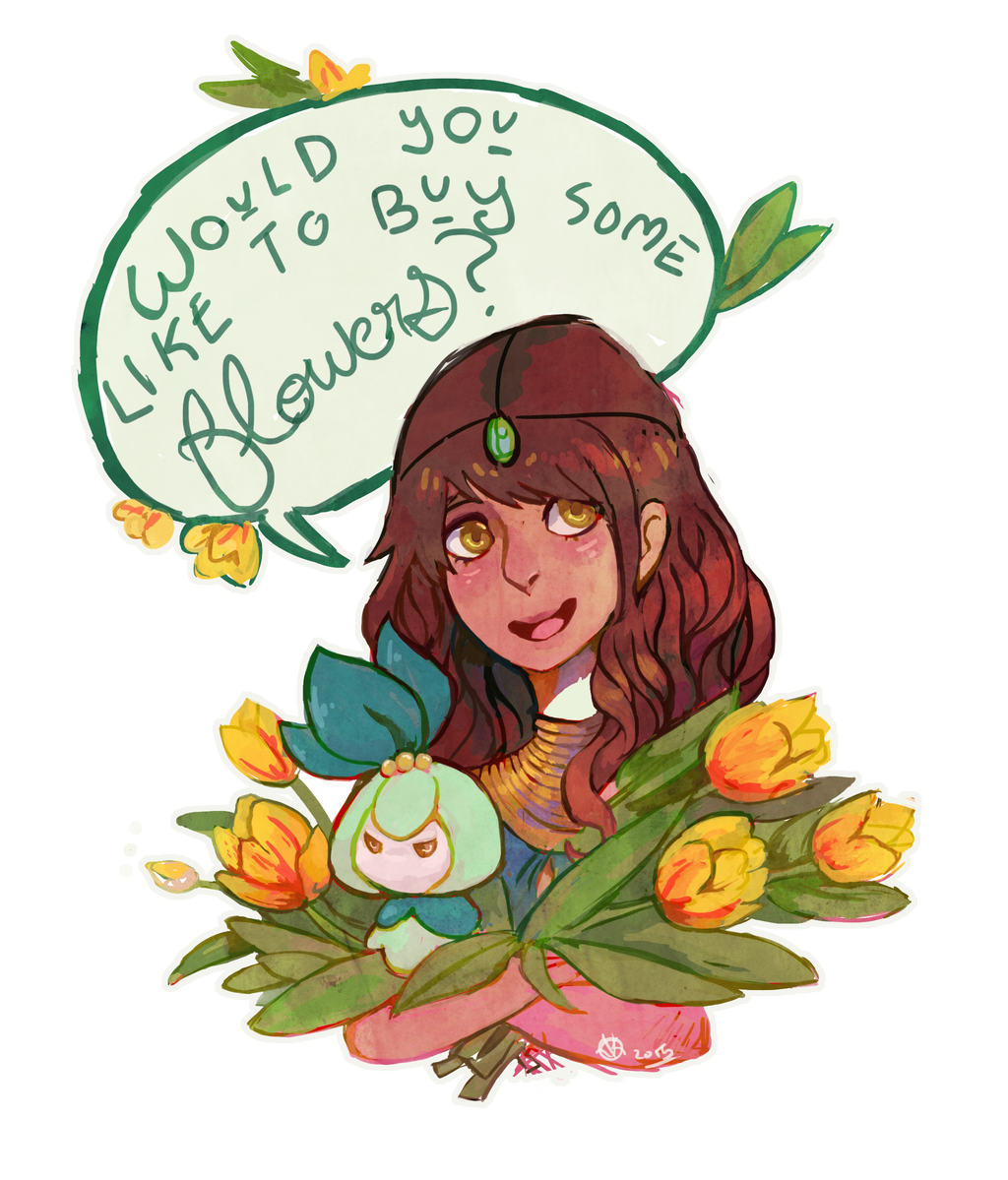 AT Would You Like to Buy some Flowers by KayVeeDee on DeviantArt