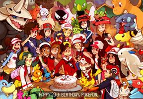 Happy 20th Birthday, Pokemon! by KayVeeDee