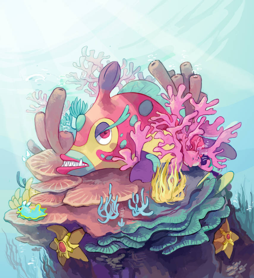 Toothy Triggerfish by KayVeeDee