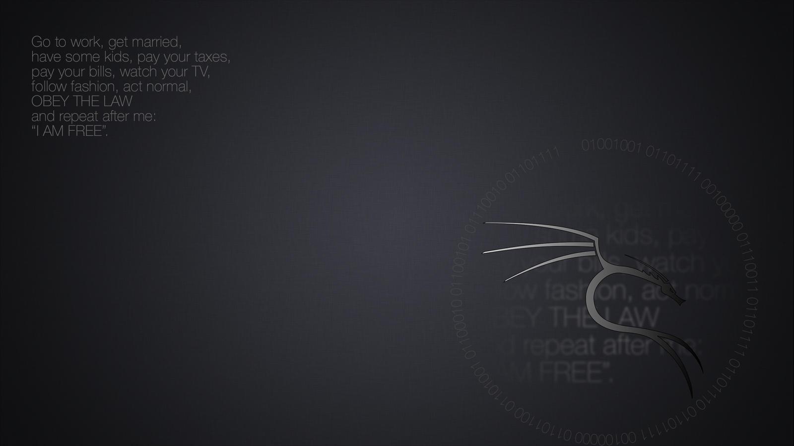 Kali Linux Wallpaper I Am Free 2 By Salvoru87 On Deviantart