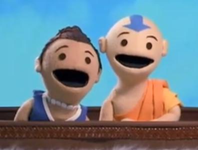 Sokka and Aang by hibakuska