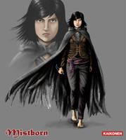 Mistborn: Vin character design by Gysahlgreen