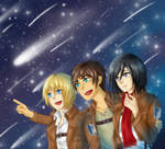 SnK - Look at the stars!