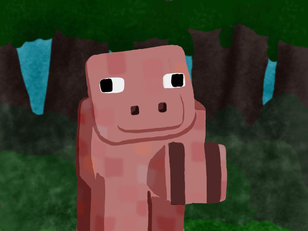 Minecraft Piggy by soepsas