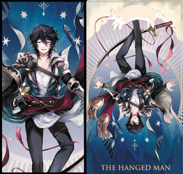 GBF Tarot: Hanged Man by dewli