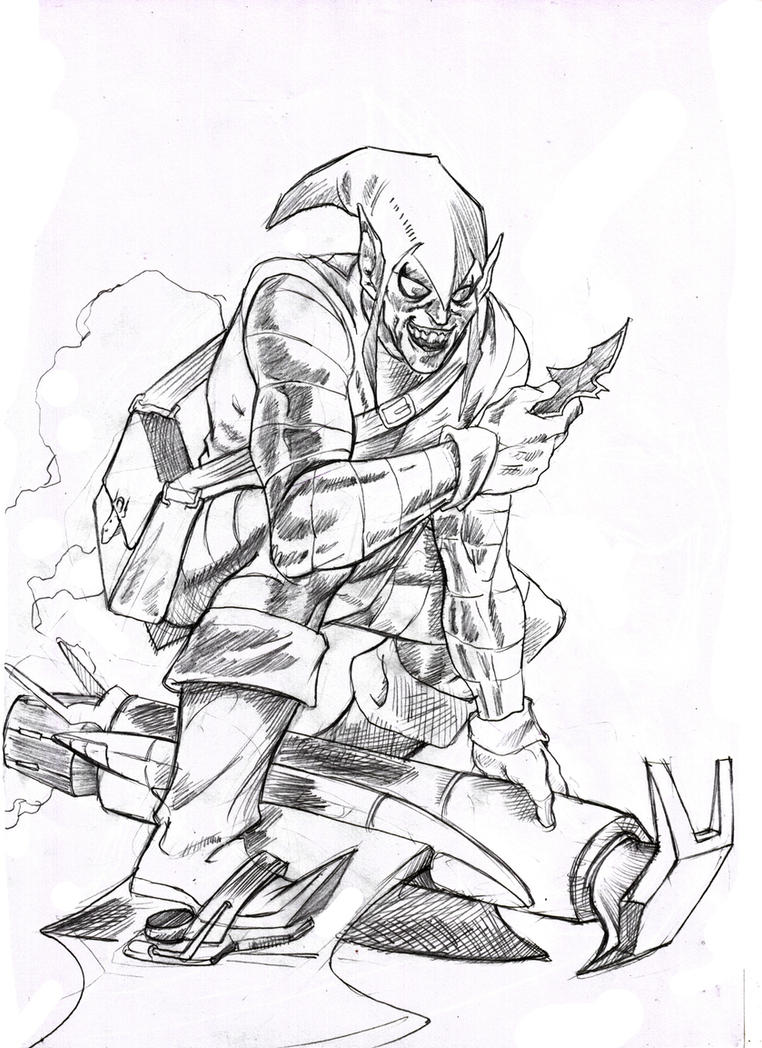 Green goblin by santini on deviantart for Green goblin coloring pages