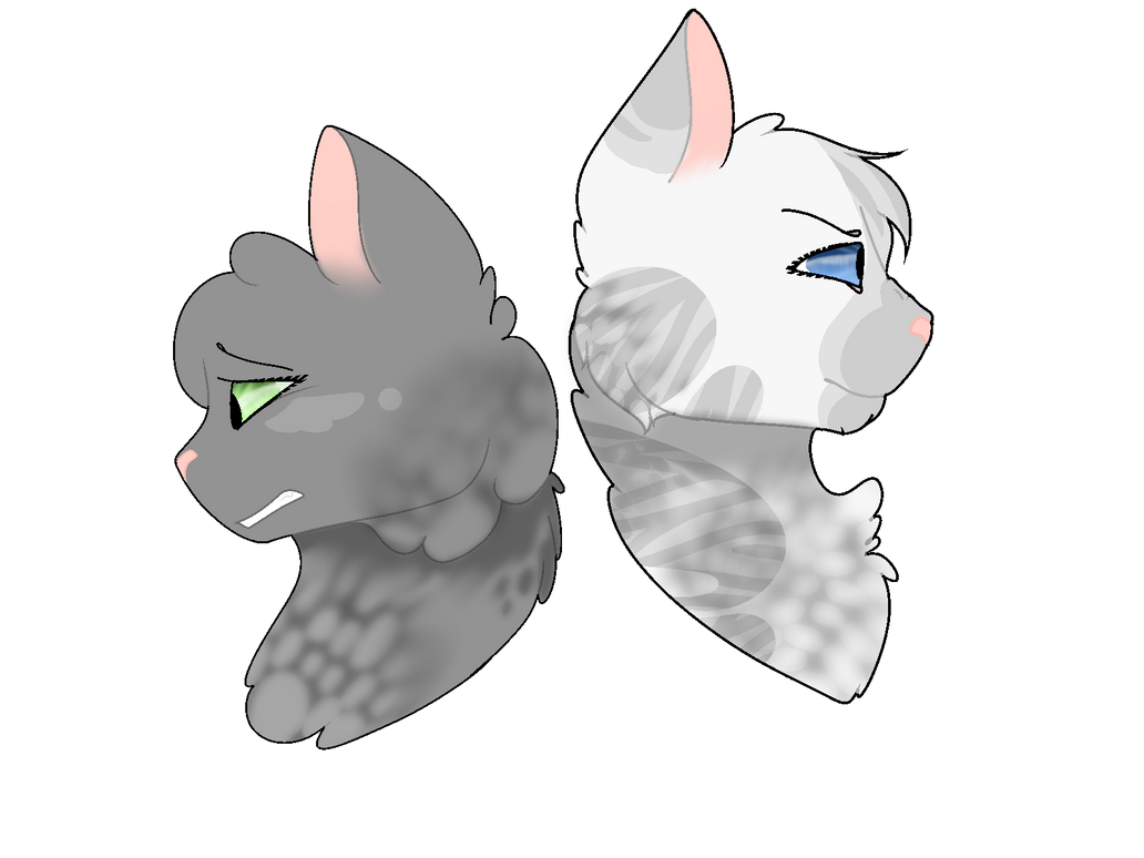 Dovewing and Ivypool by tinycloud247