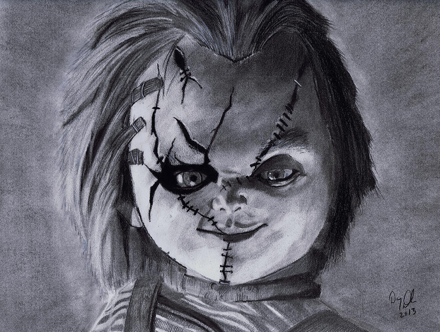 Chucky Clipart Black And White: Chucky By ShortFuseArt On DeviantArt