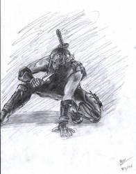Ryu Hayabusa, modern day ninja by Kage-Senshu