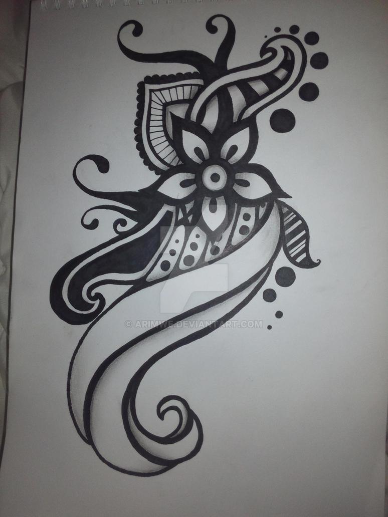 Basic Tattoo Zentangle Tattoo Design By Arimwe On DeviantArt