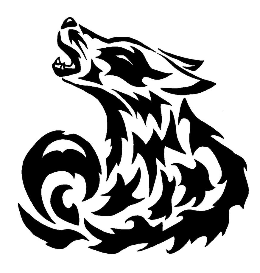 Tribal Wolf Wallpaper: Tribal Wolf By Oukami4 On DeviantArt