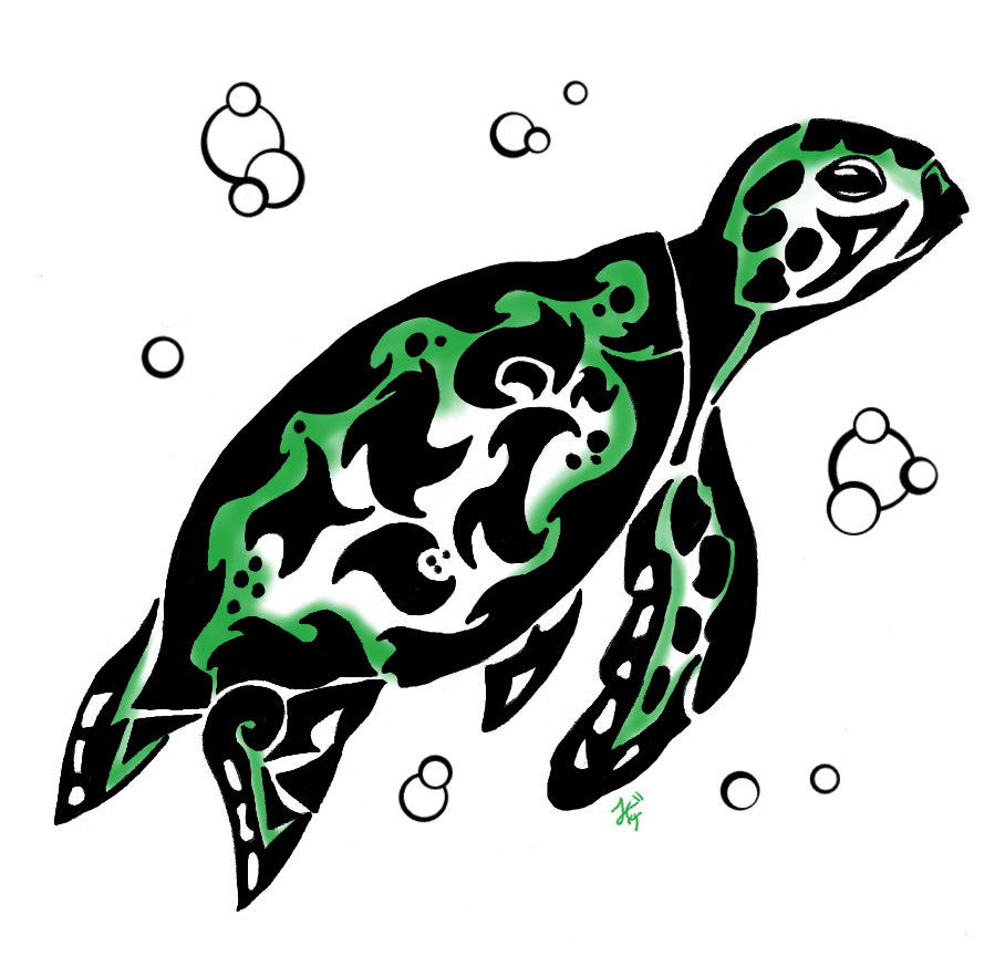 Tribal Turtle Drawings Tribal Turtle by Oukam...