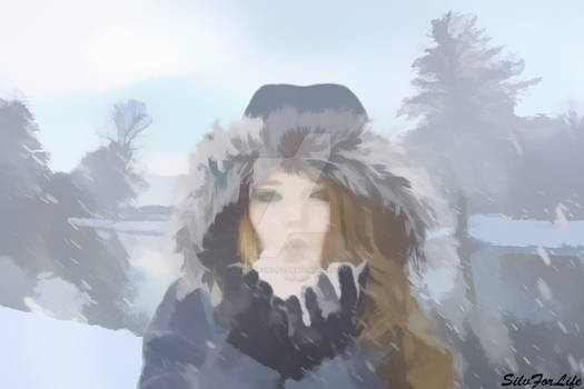 Winter landscape gives feeling of freedom - Paint