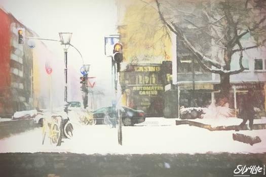 Berlin Snow Street #2 - Paint