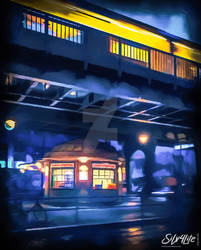 Berlin Schoenhauser Allee Streetfood  - Paint
