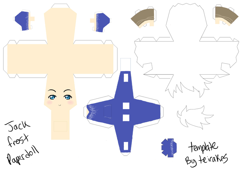Jack Frost Papercraft Template by teiteika on DeviantArt