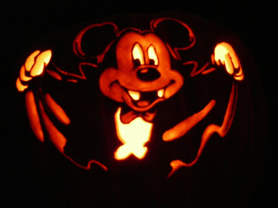 Mickey vampire pumpkin by kenklinker on deviantart