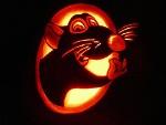 Carved pumpkin by kenklinker
