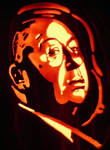Alfred Hitchcock on pumpkin