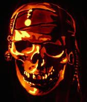 Pirate Skull by kenklinker
