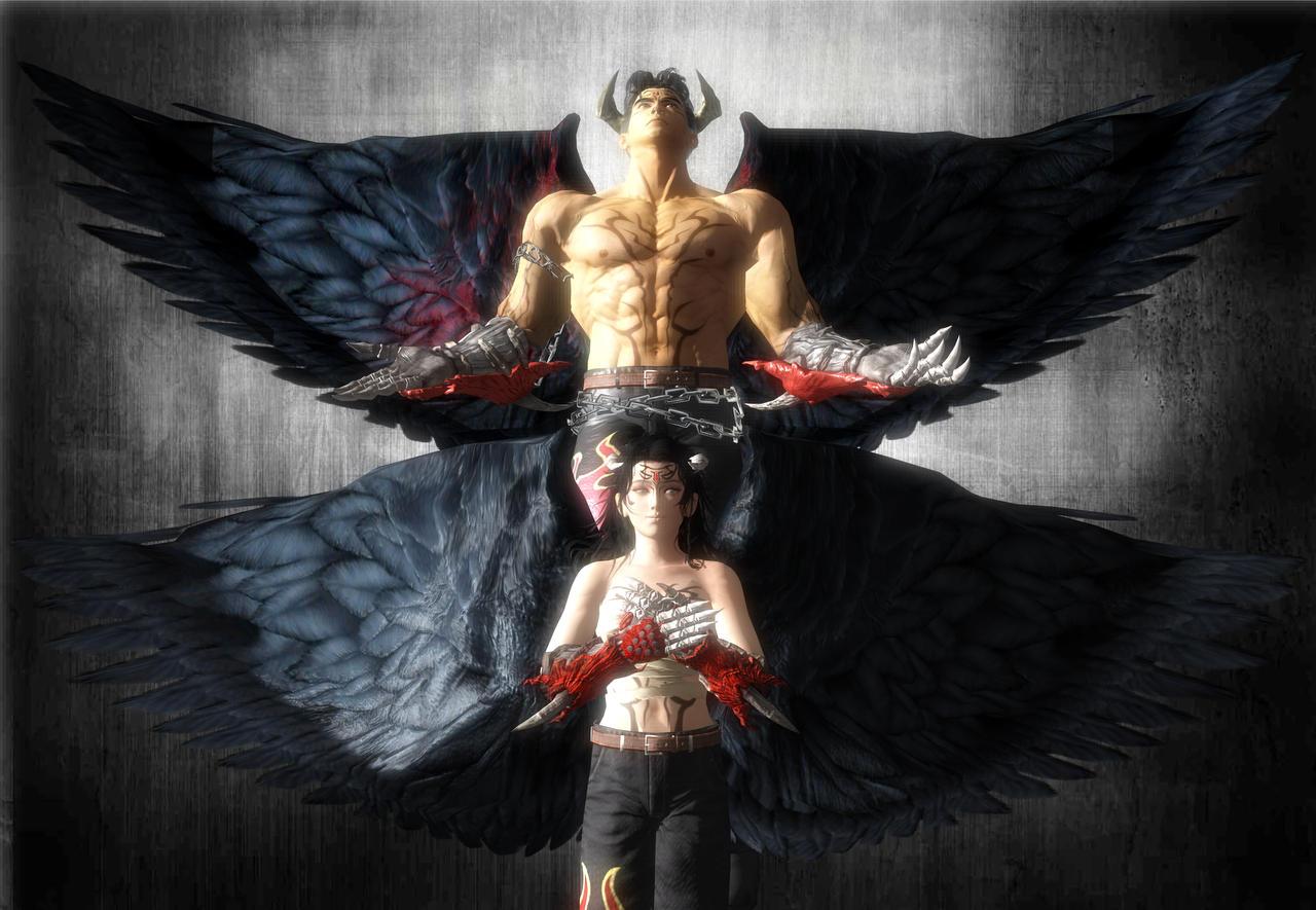 Tekken Devil Jin With Devil Jin Female Version By R X2000 On Deviantart