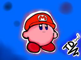 Kirby - Version Mario Bros by Teddyazulito